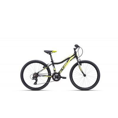 CTM ROCKY 1.0 24 matná čierna / žltá 2020