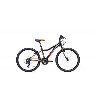 CTM ROCKY 1.0 24 matná čierna / oranžová 2020